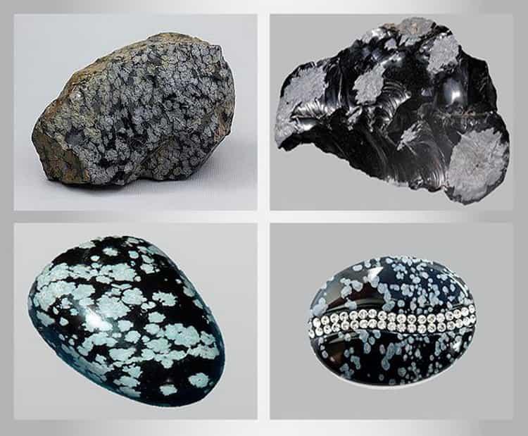 Виды минерала - обсидиан