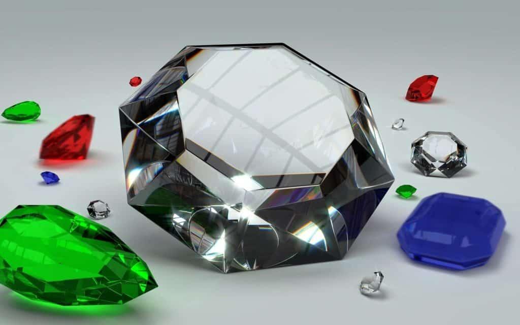 Как образуется цвет алмаза