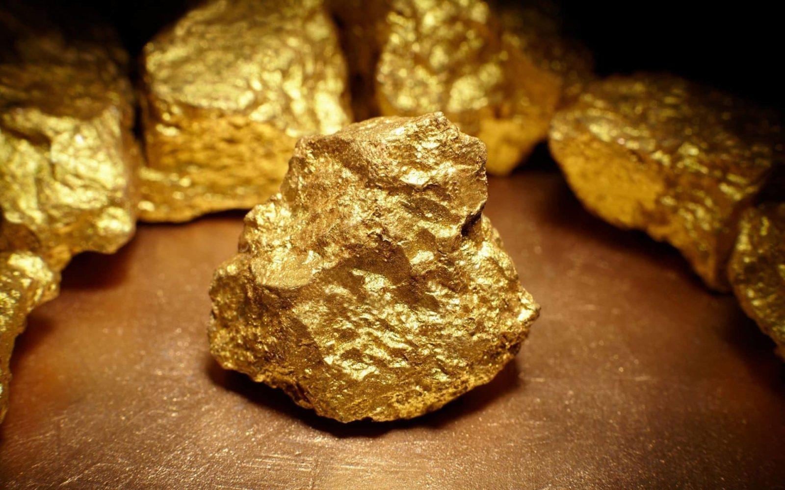 Как снять золото из камня