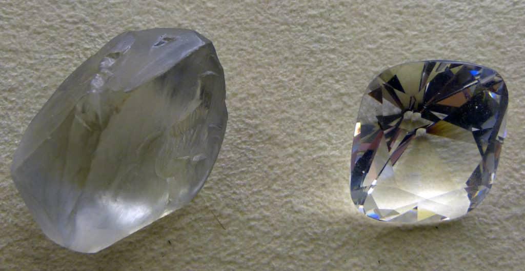 Как выглядит не ограненный алмаз
