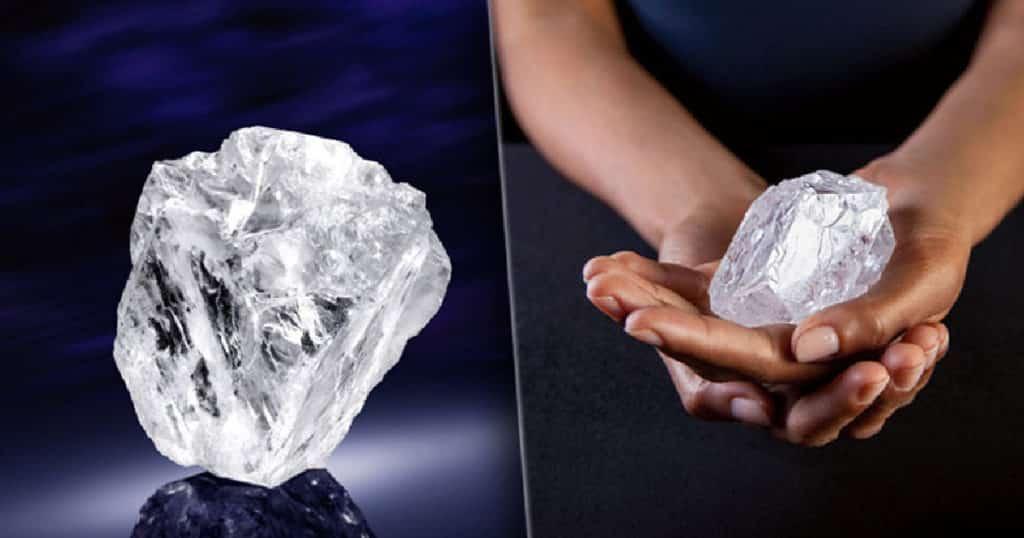 вид необработанного алмаза в природе