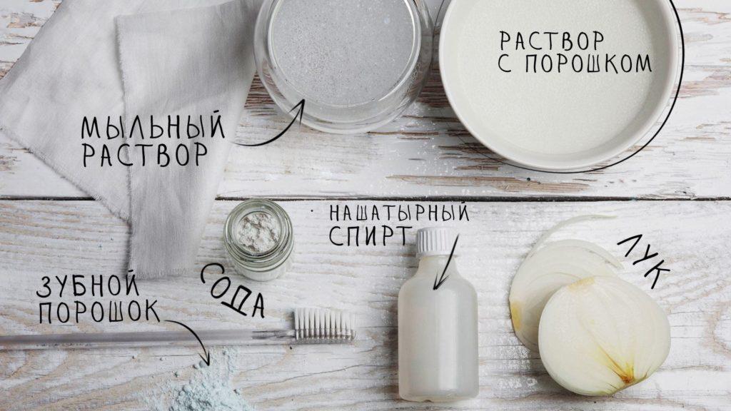 Способы чистки топазов в серебряной оправе